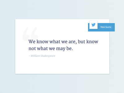Quote Generator merriweather shakespeare twitter quote ui