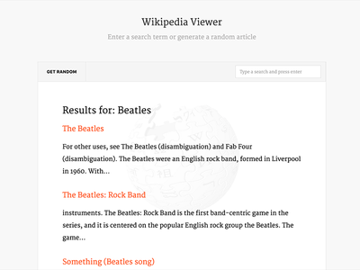 Wikipedia Viewer search merriweather wikipedia