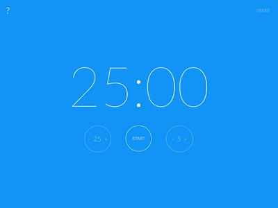 Tick tock lato counter timer clock pomodoro