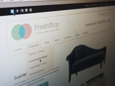 Theme in Progress. Codename: FreshShop shop e-commerce wordpress themeforest