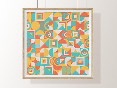 Geometric Pattern Poster geometric pattern pattern art weeklywarmup dribbbleweeklywarmup