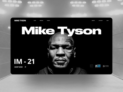 Mike Tyson e-commerce web design boxing sport trend shop story e-commerce website ux branding landing page longread title store uiux ui new interactive website design clean ui