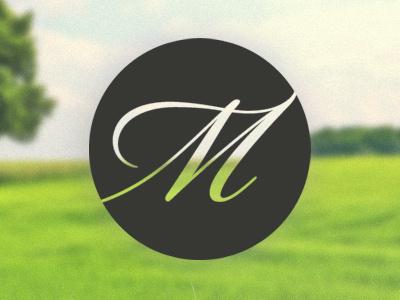 Personal Logo - Matt Willmott logo initial identity branding circle typography script font i hate thinking of tags