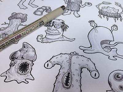 Creep Sketches sketch drawing