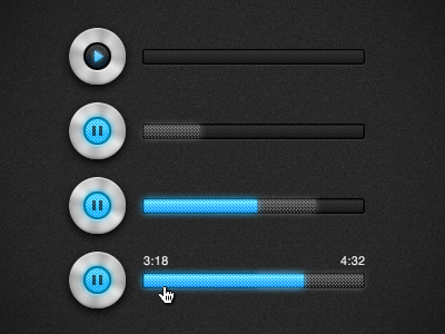 Play / Pause Control play pause control metal audio