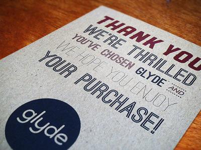 Thank You print glyde