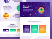 Digital Planet - Landing Page Concept
