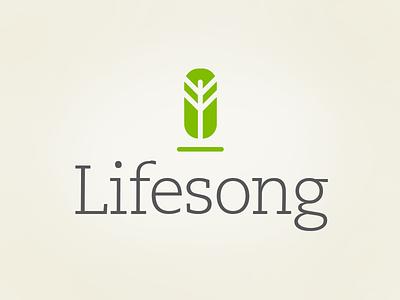 Lifesong logo tree illustrator vector