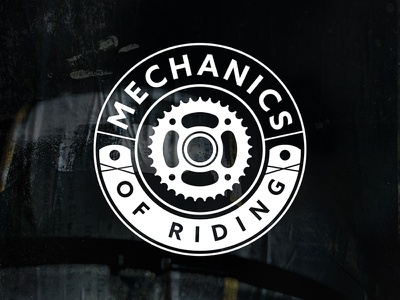 Mechanics of Riding Logo Design vector motorcycle logo