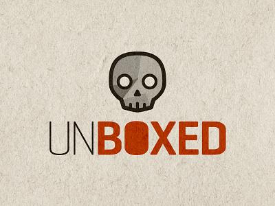 Unboxed Logo brand skull vector logo