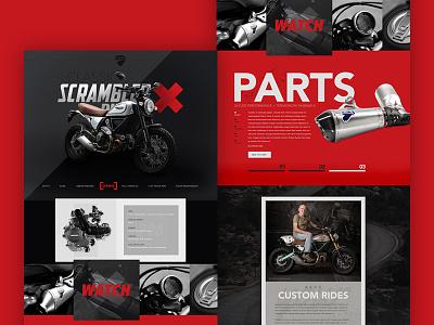 Ducati Scrambler Website homepage home ui interface dark bike web motorcycle ducati scrambler