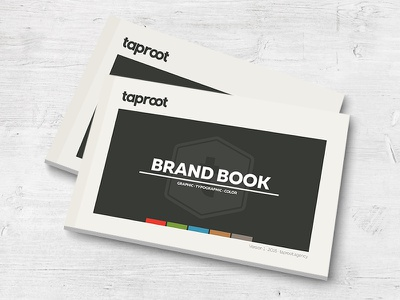 Taproot Brand Book design layout print brand book brand style guide logo