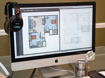 Lake Gibson Village Floorplans wireframe illustrator illustration architecture floor plans