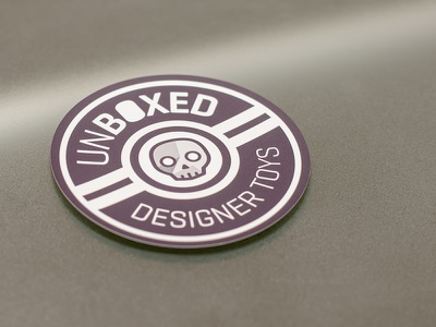Unboxed Magnet stickermule magnet logo skull toy toys designer toys unboxed