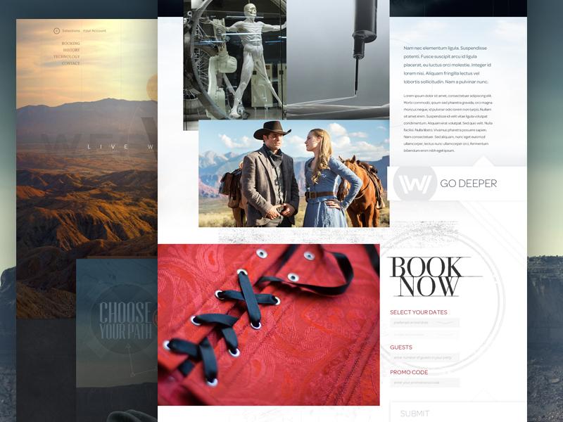 Westworld Website by Jon Edwards on Dribbble
