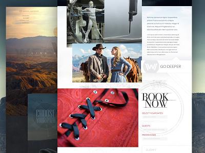 Westworld Website west cowboy hat western layout interface hbo web website westworld