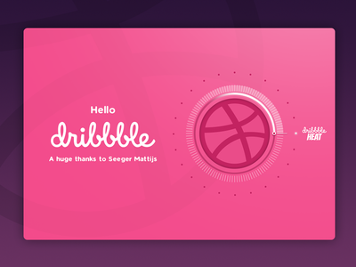 Hello Dribbble temperature thermostat hello dribbble first shot debut