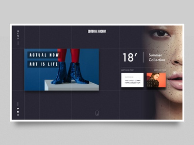 Fashion Home Page ux dark blue home page clean design ui fashion page adobe xd