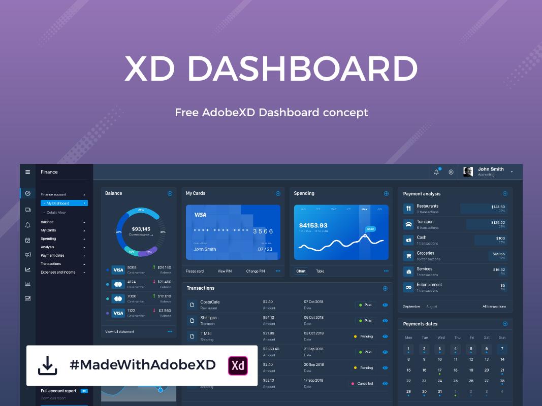 Finance dashboard payment profile account settings accountancy bank account finance dashboard finance business adobe xd dark blue dashboard