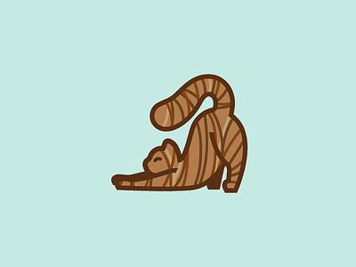 stretch tabby kitten cat illustration animal icon simple design vector art 365project dailydesign
