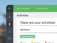 Workout Activity Library