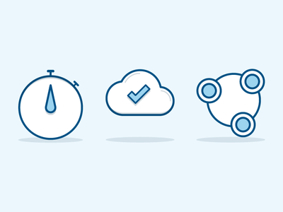 Features' icons for Bulletin Wizard web app