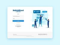 BulletinWizard login view