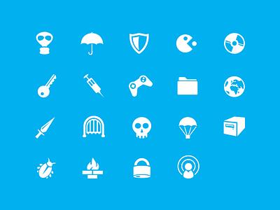 Free vector icons shield game tape mask syringe pacman free icons svg ai key umbrella