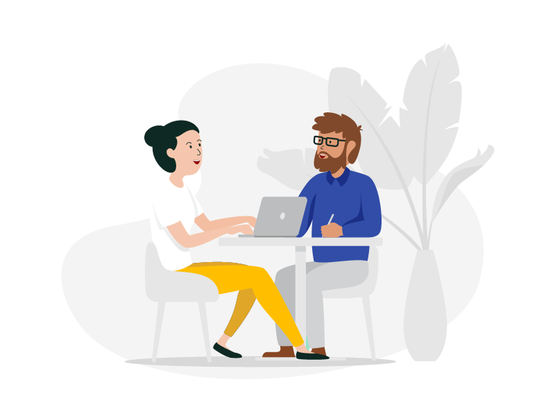 Meeting office people meeting illustration