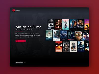 Mediathek for Web website vastarmy ui movie design mediathek