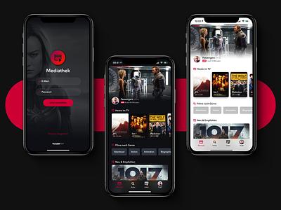 Mediathek Home Screen user interface ios app ui vastarmy design