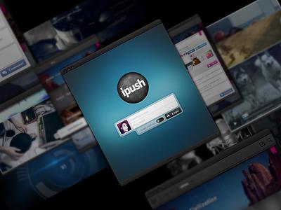 iPush adobe air share pinterest tool boomark flash app ui