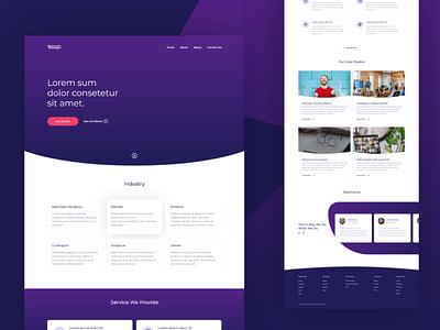 Landing page design template web branding illustraion design mockup template mockup design mockup adobe xd landingpage ux uxui ui