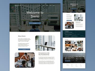 Zeerio || Co-working Space website illustration design app web ux ui