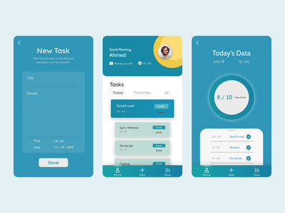 Le Schedule - Application UI Design ui design user interface application ui applicaiton branding landing page figma application graphic design flat app ui ux illustration
