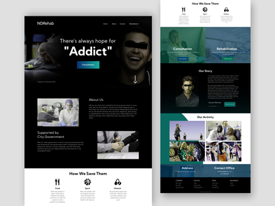 NDRehab - Landing Page Concept flat design design figma branding application web graphic design flat app ux ui ui ux ui ux web website design web design website