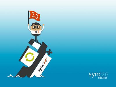 sync 2.0 ui design repurpose flat product screensaver