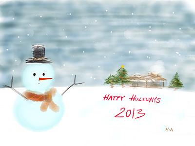 Holiday art design stylus sketch