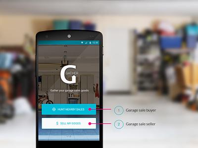 Gather  mobile app ui landing page