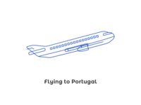 Flying to Portugal