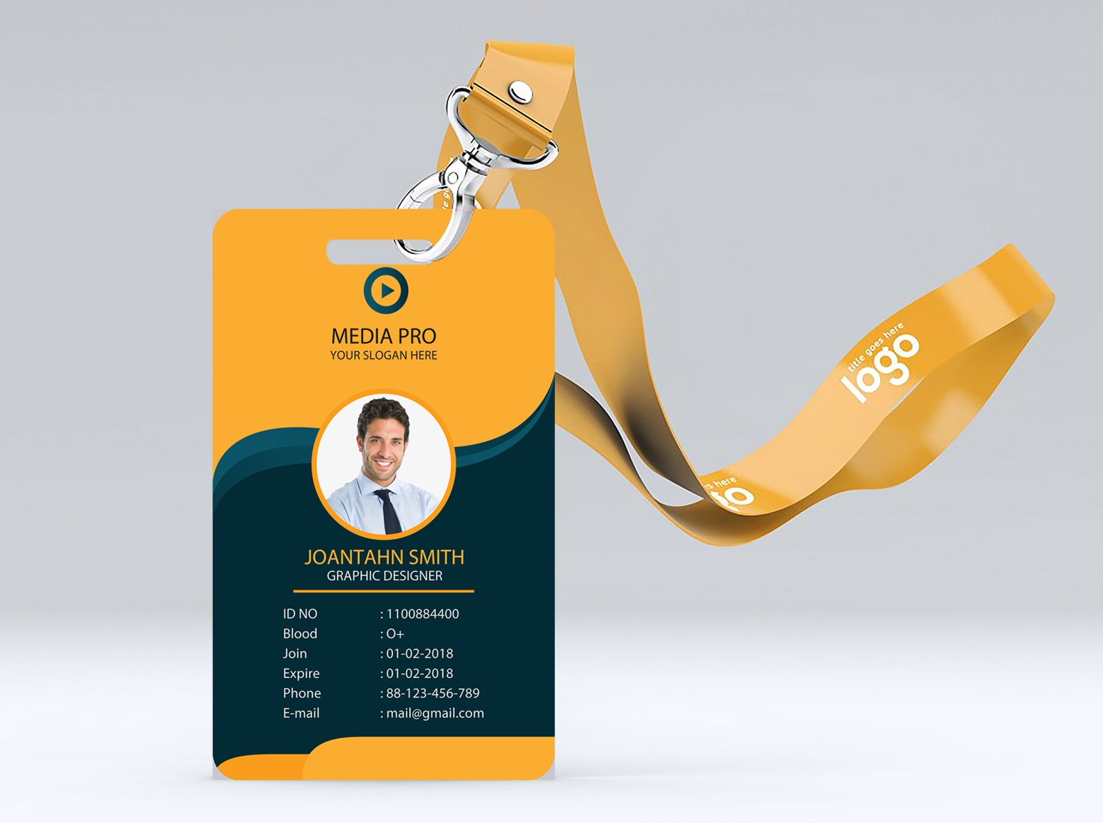 Professional company Id Card Design Template by Shamim Hasan on Pertaining To Company Id Card Design Template