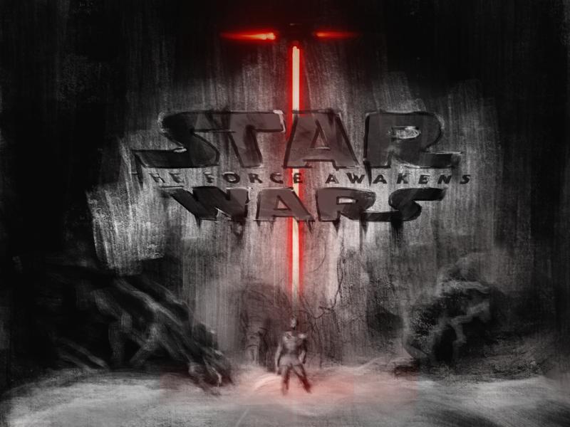 Luke's Crucible dagobeh cave laser sword light saber kyle ren skywalker luke illustration daily sketch star wars