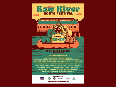 Kaw River Festival Poster river music poster roots
