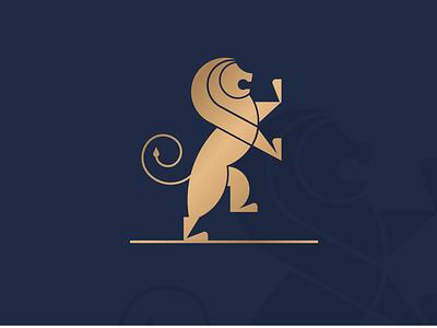 Roar navy gold heraldry lion