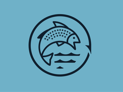 Kansas Fisheries campaign logo fish logo kansas fishing fish