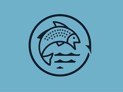Kansas Fisheries campaign logo fish logo kansas fishing fish