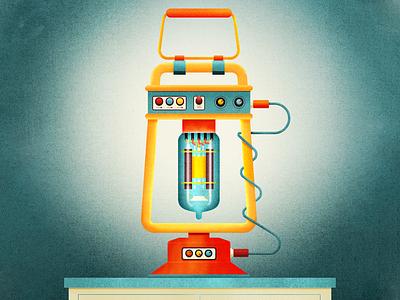 Vacuum Tube Lamp knobs buttons photoshop illustrator illustration vacuum tube