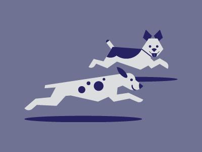 Pups Running dogs blue running pets companion animal mans best friend