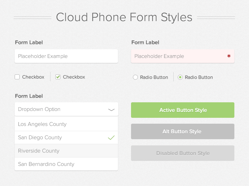 Form Style Guide html form custom forms style guide web app