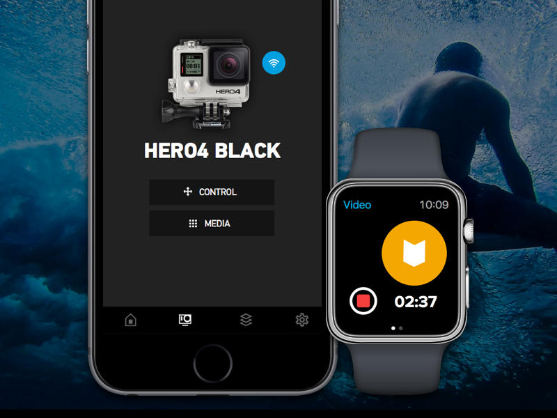 how to connect gopro to apple watch